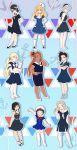 6+girls ahoge akimichi_chouchou alternate_hairstyle anchor black_hair blonde_hair boruto:_the_movie bow crossdressing dark_skin dress genderswap gradient gradient_background grey_hair hair_bow hat metal_lee mitsuki_(naruto) multiple_girls nara_shikadai naruto noeunjung93 sailor_collar sailor_hat short_dress side_ponytail uchiha_sarada uzumaki_boruto uzumaki_himawari yamanaka_inojin