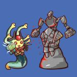 agito666 defense_of_the_ancients dota_2 medusa_(dota_2) simple_background snake stone tinker_(dota_2)