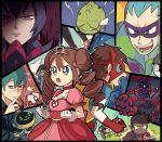 10s ace_trainer_(pokemon) blue_eyes blush brown_hair clerk_(pokemon) dress gloves gym_leader hachiku_(pokemon) jujube_(pokemon) kyouhei_(pokemon) ledian mask mei_(pokemon) natsume_(pokemon) npc_trainer poke_ball pokemon pokemon_(game) pokemon_bw2 pokewood smeargle substitute suit tiara twin_drills tyranitar