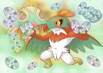 artist_request cd gradient gradient_background hawlucha no_humans official_art pokemon pokemon_mystery_dungeon solo tagme
