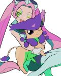 00s 1girl delcatty goggles green_eyes lovrina_(pokemon) pink_hair pokemon pokemon_(game) pokemon_xd simple_background twintails wink