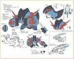 10s concept_art game_freak mega_pokemon muscle official_art pokemon pokemon_(game) pokemon_oras simple_background sugimori_ken swampert translation_request