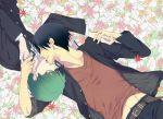 black_hair glasses green_hair hands holding kazunari_takao kuroko_no_basuke midorima_shintarou yaoi