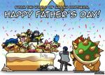 birthday_cake blue_hair bowser bowser_jr. bracelet cake father's_day father_and_son fire_emblem fire_emblem:_kakusei food glasses green_hair horns iggy_koopa jewelry koopalings krom larry_koopa lemmy_koopa lucina ludwig_von_koopa morton_koopa_jr. nintendo roy_koopa sharp_teeth shell siblings simple_background smashing_renders spiked_bracelet spikes super_mario_bros. super_smash_bros. teeth tiara very_long_hair wendy_o._koopa xd