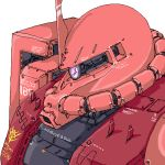 gundam mecha mobile_suit_gundam mshr0107 oekaki simple_background zaku zaku_ii zaku_ii_s_char_custom