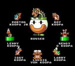 1girl 6+boys bowser iggy_koopa koopalings larry_koopa lemmy_koopa ludwig_von_koopa morton_koopa_jr. multiple_boys nintendo roy_koopa siblings simple_background super_mario_bros. super_mario_world wendy_o._koopa