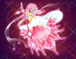 crystal diancie dress gem looking_back mega_diancie mega_pokemon no_humans pokemon red_eyes sword