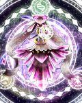 alternate_form crystal diancie dress flyaspring4 magic mega_diancie mega_pokemon nintendo no_humans pokemon red_eyes smile