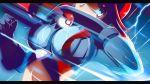 10s 1girl blue_eyes breasts fuuro_(pokemon) gloves gym_leader poke_ball pokemon pokemon_(game) pokemon_bw rain redhead solo vivivoovoo