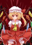 blonde_hair flandre_scarlet hat ponytail red_eyes short_hair side_ponytail touhou wings yuurakudou_kurono