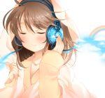 closed_eyes headphones original pan_(mimi) rainbow