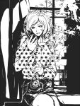 1girl cigarette lupin_iii mine_fujiko monochrome phone s_tanly smoking solo