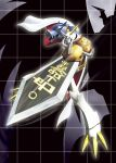 armor bandai cape digimon epic fangs full_armor horns no_humans omegamon royal_knights sword weapon