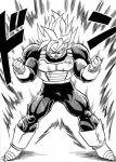2nd_grade_super_saiyan dragon_ball dragonball_z monochrome official_art son_gokuu super_saiyan toriyama_akira