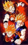 brothers dragon_ball dragonball_z family father_and_sons siblings son_gohan son_gokuu son_goten super_saiyan yamamuro_tadayoshi