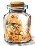 bottle bottle_meme_(pixiv) cork dedenne in_bottle in_container jar meme mouse no_humans nyaashan pokemon pokemon_(creature) simple_background squish white_background