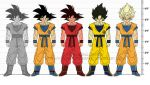dragon_ball dragonball_z false_super_saiyan kaioken son_gokuu super_saiyan the-devils-corpse_(artist)