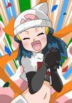 blue_eyes blue_hair hainchu hikari_(pokemon) navel pokemon team_rocket_(cosplay)