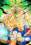 broly dragon_ball dragonball_z legendary_super_saiyan son_gokuu super_saiyan vegeta