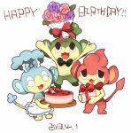 10s 2013 ako_(ako0905) dated flower happy_birthday nintendo no_humans panpour pansage pansear pokemon pokemon_(game) pokemon_bw
