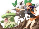 00s 1girl jinteitei ludicolo nintendo npc_trainer pkmn_ranger_(pokemon) pokemon pokemon_(game) pokemon_dppt shiftry