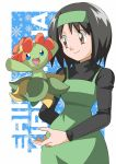 bellossom black_hair brown_eyes erika_(pokemon) gym_leader hainchu pokemon