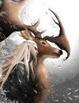 1boy blonde_hair circlet elf elk highres king long_hair male_focus middle_earth pointy_ears solo the_hobbit thranduil