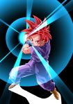 dragon_ball dragonball_z kamehameha red_eyes redhead son_gohan spiky_hair super_saiyan_god
