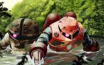 abazu-red acguy boat gundam mecha mobile_suit_gundam water z'gok z'gok_char_custom