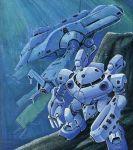 fukuchi_hitoshi grabro grabro_unit_04 gundam lowres mecha mobile_suit_gundam underwater water z'gok z'gok_crab