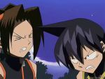 2boys angry animated animated_gif asakura_you black_hair brown_hair multiple_boys shaman_king tao_ren