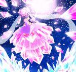 10s alternate_form crystal diancie dress gem mega_diancie mega_pokemon nintendo open_mouth pokemon pokemon_(game) pokemon_oras pokemon_xy red_eyes sword