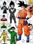 abs armor belt boots dragon_ball dragonball_z frieza gold golden_frieza korean male_focus son_gohan son_gokuu spiky_hair super_saiyan translation_request ultimate_gohan vegeta