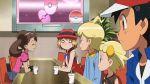 2boys 3girls animated animated_gif blush citron_(pokemon) eureka_(pokemon) multiple_boys multiple_girls pokemon pokemon_(anime) pokemon_xy sana_(pokemon) satoshi_(pokemon) serena_(pokemon) smile