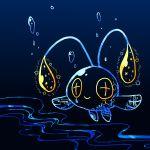 +_+ bubble chinchou nintendo no_humans pokemon pokemon_(game) smile solo star water