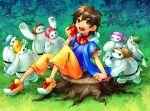 1boy apple baymax big_hero_6 cosplay disney food fruit hiro_hamada robot snow_white snow_white_(cosplay) snow_white_and_the_seven_dwarfs