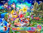 bird birdo blooper blue_eyes bowser bowser_jr. cheep_cheep goomba hat luigi mario mario_party mario_party_9 official_art penguin piranha_plant princess_daisy princess_peach shy_guy super_mario_bros. super_mario_land waluigi wario wiggler yoshi