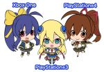 arc_system_works blazblue blazblue:_chronophantasma blazblue_remix_heart celica_a_mercury chibi game_console mai_natsume multiple_girls noel_vermillion official_art playstation_3 playstation_4 xbox_one