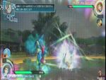 3d animated animated_gif lowres lucario mega_lucario pikachu pokemon pokken_tournament