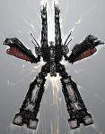 bad_id choujikuu_yousai_macross daedalus highres macross mecha moto_murabito prometheus_(ship) science_fiction sdf-1 silver_defense_fortress space_craft storm_attacker the_super_dimension_fortress_macross traditional_media