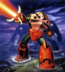 firing gundam mecha mobile_suit_gundam official_art water z'gok z'gok_char_custom