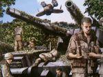 aircraft fanfan gundam helmet military military_uniform military_vehicle mobile_suit_gundam soldier tank type_61_(gundam) uniform vehicle