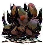 00s alternate_color artist_request nintendo no_humans pokemon pokemon_(game) pokemon_rse regirock shiny_pokemon solo
