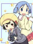 2girls cabbie_hat character_request hat multiple_girls naganohara_mio nichijou zubatto