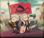 1boy 1girl 1other animal book brother_and_sister crossover dipper_pines disney fire_emblem fire_emblem:_kakusei fire_emblem_13 fire_emblem_awakening fire_emblem_heroes flag gravity_falls highres human intelligent_systems krom krom_(cosplay) mabel_pines my_unit my_unit_(cosplay) my_unit_(fire_emblem:_kakusei) nintendo parody pig short_hair siblings smile sora_(company) super_smash_bros. sword twintails waddles weapon white_hair