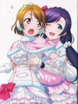 2girls artist_request breast_hold female highres koizumi_hanayo love_live!_school_idol_project multiple_girls snow_halation toujou_nozomi