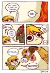 blonde_hair comic english ganondorf hat link omocat princess_zelda sword the_legend_of_zelda weapon
