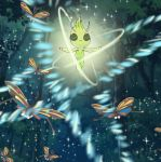 antennae beautifly butterfly butterfly_wings celebi closed_eyes forest insect nature no_humans pokemon pokemon_(game) tagme tree wings