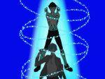 2boys arisato_minato gun hitoshura multiple_boys persona persona_3 shin_megami_tensei_iii:_nocturne weapon yuuki_makoto