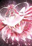 10s alternate_form crystal diancie dress gem highres mega_diancie mega_pokemon nintendo no_humans open_mouth pokemon pokemon_(game) pokemon_oras pokemon_xy red_eyes rock smile solo